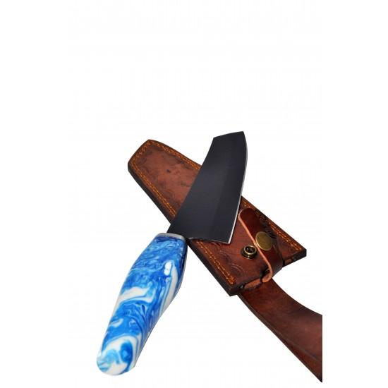 Кухненски нож - ръчна изработка - дамаска стомана -CB 100008