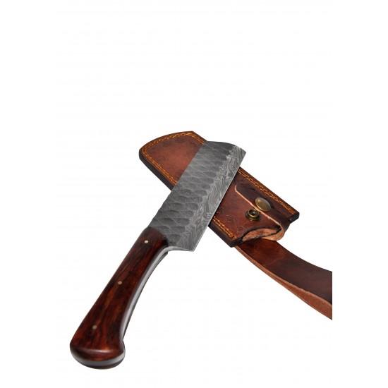 Кухненски нож - ръчна изработка - дамаска стомана CB 100010
