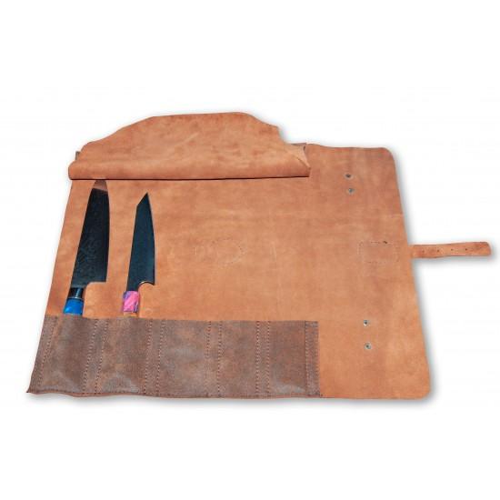 Чанта за ножове от естествена кожа - CB 100055